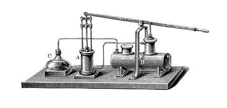 absorption: Edmond Carré (22 January 1833 – 7 May 1894) developed the first absorption refrigerator, using water and sulphuric acid