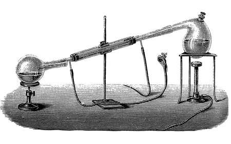 Lab equipment for water distillation photo