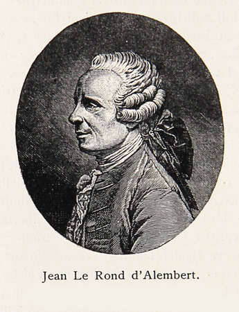 EngravingPortrait of Jean-Baptiste le Rond dAlembert, renowned 18th century mathematician, physicist, philosopher, and music theorist, co-editor of the Encyclopedie