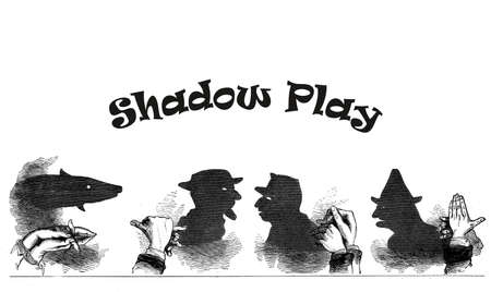 puppet show: Shadow play, vintage puppet show