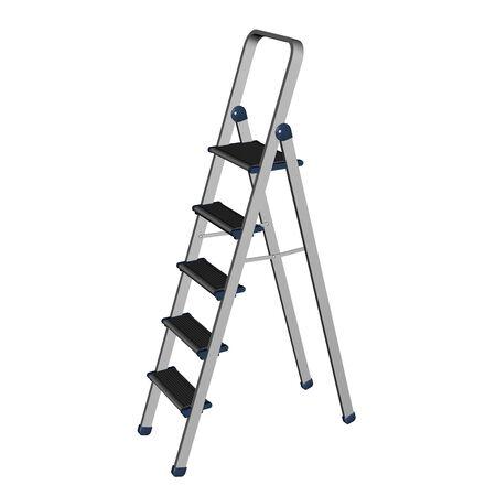 footstool: Aluminium lightweight  ladder, 3D rendering