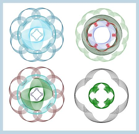 fading: Decorative circular elements with fading colors