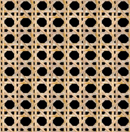 HD seamless Vienna caned straw artwork on black background