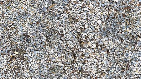 HD seamless pebbles shore background Stock Photo