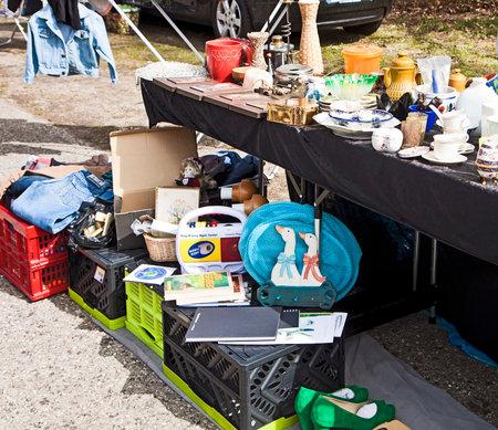 The Cheap Stuff Springtime Flea Market Merchandise Second Hand Clothes And Home Stuff