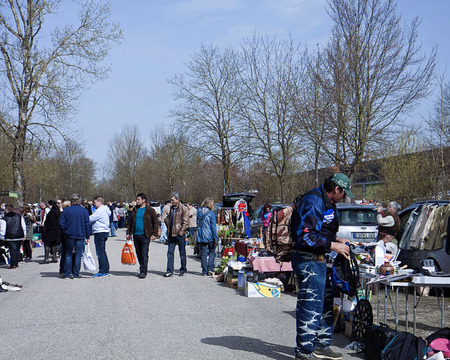 walk in closet: Eching, Germany - people look for bargain at the first spring open air flea market of the season Editorial