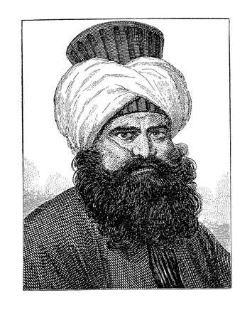 18th century style: Murad Bey Muhammad, Mamluk Emir ruler of Egypt, engraving portrait