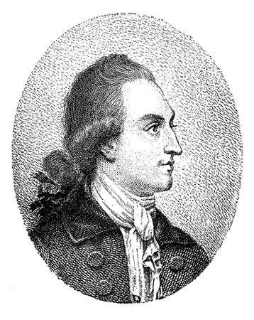 18th century style: Johann Wolfgang von Goethe portrait Stock Photo