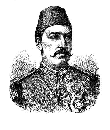 19th century style: Muhammed Tewfik Pasha of Egypt portrait