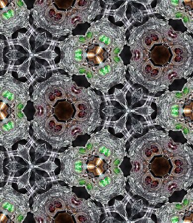 glimmering: HD seamless texture, kaleidoscope effect on glimmering goblets