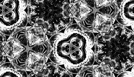 kaleidoscop: HD seamless texture, kaleidoscope effect on glimmering glasses