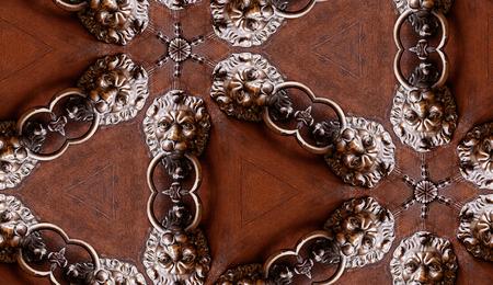kaleidoscop: HD seamless texture,vintage door knocker with lion head with kaleidoscopic effect