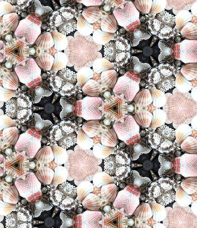 kaleidoscop: HD seamless texture of  marine shell fantasy with kaleidoscopic effect