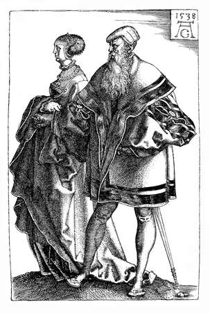 heinrich: German Renaissance , Heinrich Aldegrever (1502-1555) wedding dancers, engraving
