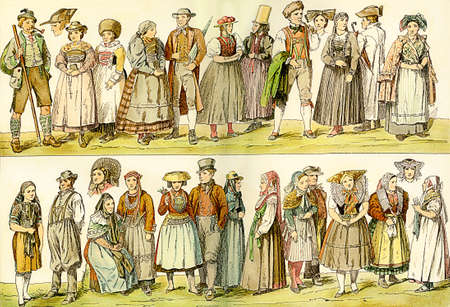 xviii: XVIII century, German folk clothing