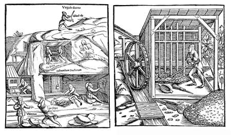 mines: Medieval economy for coinage production: work in silver mines