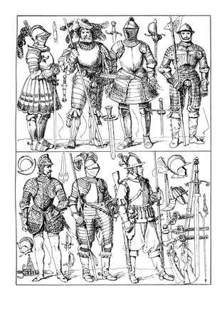 halberd: XVI-XVII century, armors and weapons
