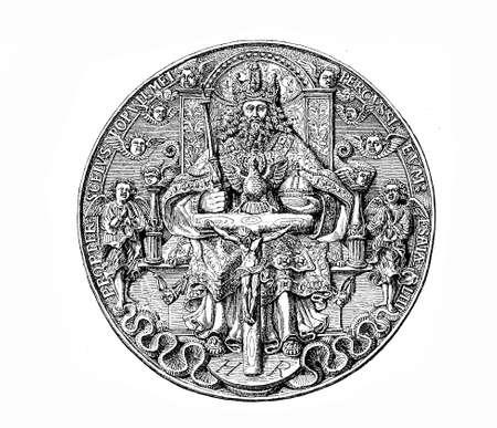 thaler: Year 1544, Silver thaler of  Maurice Duke of Saxony ( 1521-1553)