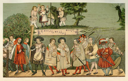 minstrel: Year 1520, group of touring minstrels performing in Augsburg