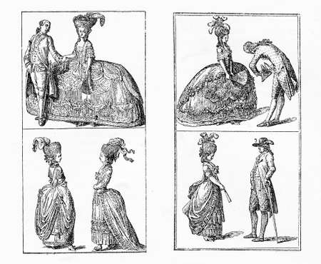Berlin ladies and men fashion and elegance, early XVIII century