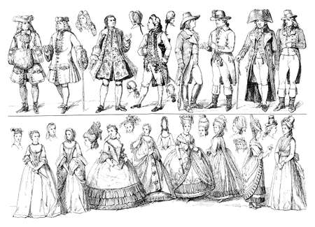 xviii: Lifestyle and fashion upper class ladies and gentlemen 18th century