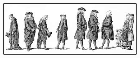 Caricatural and mundane representation of the Berlin clergy in XVIII century