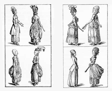 Berlin ladies fashion, late XVIII century