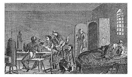incarcerated: 1829 - 1830, student life, karzer: detention room to incarcerate students as a punishment. Karzers existed both at German  universities and at gymnasiums.  The detention was mild and became a matter of honour to have been incarcerated at least once during