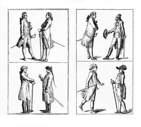 Berlin genlemen fashion and elegance,  late XVIII century