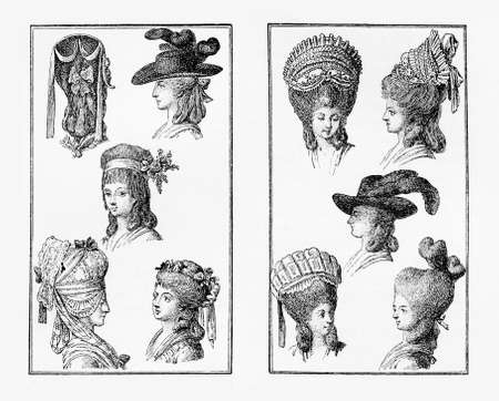 xviii: Berlin ladies fashion hat and coiffure extravaganza,  XVIII century