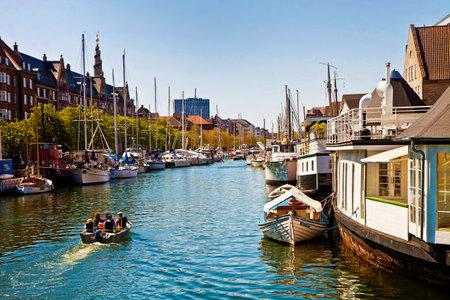 Copenhagen, Denmark: view of the main channel crossing Christianshavn:  once a merchant town then incorporated in Copenhagen and part of Copenhagen harbor