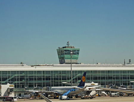 control tower: Air traffic control tower at Munich airport