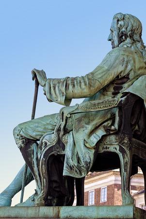 ludwig: Copenhagen, Denmark, statue of Ludwig baron of Holberg (1684-1754) writer, essayist, philosopher, historian and playwright