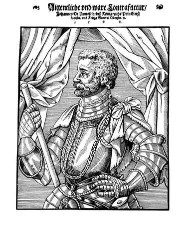 statesman: Jan Zamoyski, Polish nobleman advisor of king Sigismund II Augustus,diplomat, politician and statesman, XVI century Stock Photo