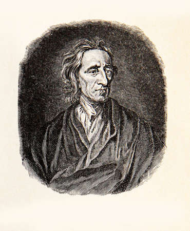 17th: Engraving portrait of John Locke influential Enlightenment thinker and father of Liberalism