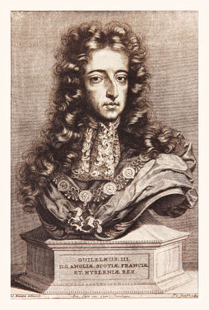 billy: Engraving portrait of William of Orange, king of  England, Ireland, and Scotland from 1689 to 1702