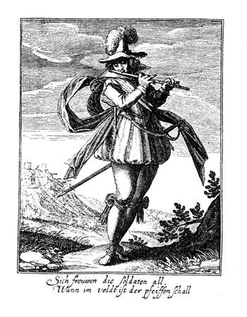 thirty: Thirty years war soldier, middle XVII century