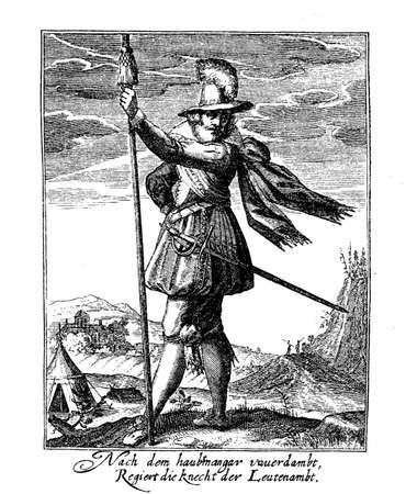 17th century: Thirty years war soldier, middle XVII century