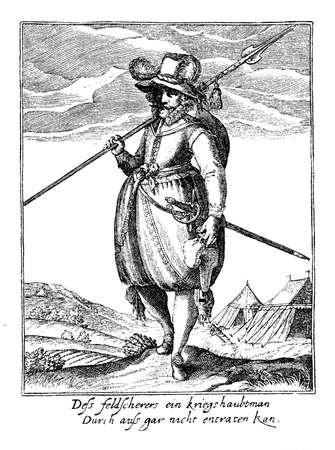 mercenary: Thirty years war soldier, middle XVII century