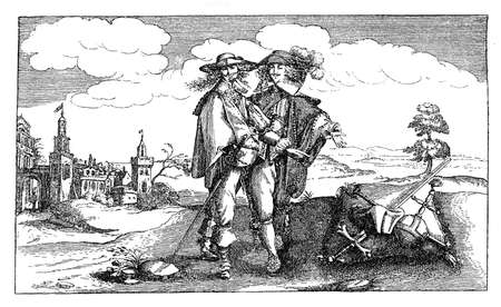 trespass: Year 1632, flyer warning Jesuiten to trespass Palatinate border