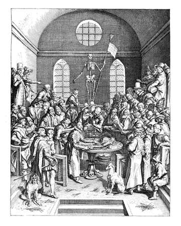 lesson: Anatomy lesson at the University medical college, year 1616