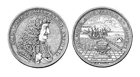 frederick: Germany, silver medal from 1681 of  Frederick William, Elector of Brandenburg, Duke of Prussia commemorating the African campaign