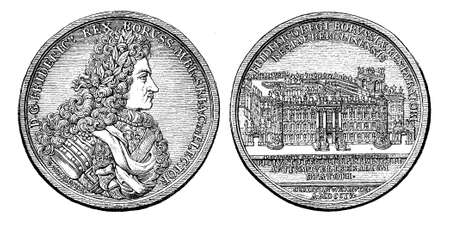 xviii: Medal from 1704 of  Frederick I king of Prussia
