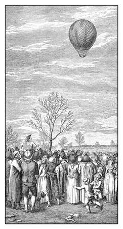xviii: Year 1788, Jean-Pierre  Blanchard pioneer in balloon flights at his 28th flight over Nuremberg