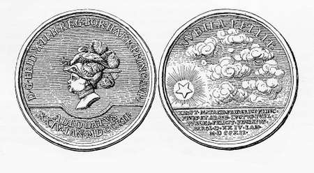 xviii: Silver medal for the birth of Frederick the Great of Prussia in 1712