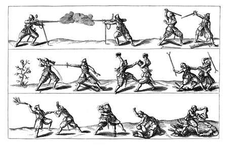 slaughter: XVII century, Thirty Years War : soldiers fighting