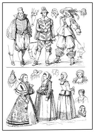 puffed: European fashion and costumes, XVII century