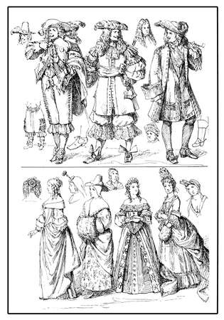 petticoat: European fashion and costumes, XVII century
