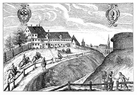 XVII century, coaching inn in Augsburg