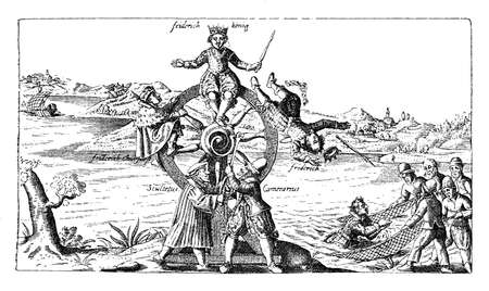 rey caricatura: Palatinado volante satírica sobre Frederick V, rey de Bohemia, conocido como el rey de invierno por su corto reinado